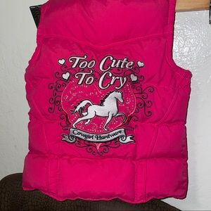 Pink Puffer Vest Too Cute to Cry Cowgirl Hardware